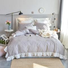 60长绒棉绣花系列四件套 2.0m(6.6英尺)床 小雏菊