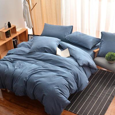 无印良品风水洗棉套件 1.2m(4英尺)床 纯色-牛仔兰