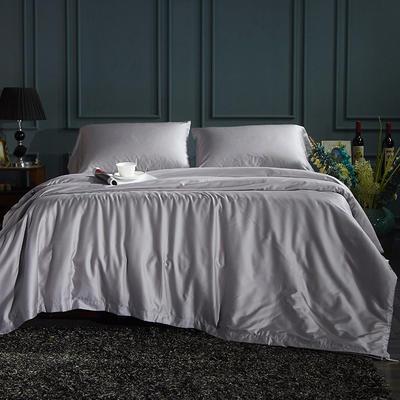60S纯色天丝纽扣款四件套-床单床笠款2017新款 1.5/1.8米床单款 浩瀚银