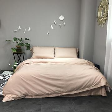 60S纯色天丝纽扣款四件套-床单床笠款2017新款
