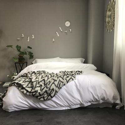 60S纯色天丝纽扣款四件套-床单床笠款2017新款 1.5/1.8米床单款 皎洁白