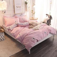 全棉生态磨毛四件套 1.2米床单款(三件套) 蒲公飞舞