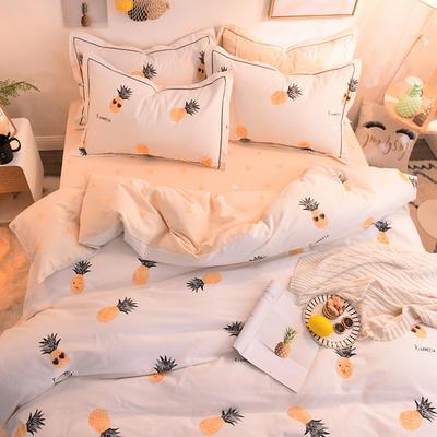 2018新款全棉生态磨毛四件套 1.2米床单款(三件套) 菠萝蜜