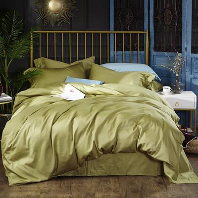 2018新款60支纯色长绒棉四件套 1.5m(5英尺)床 橄榄绿