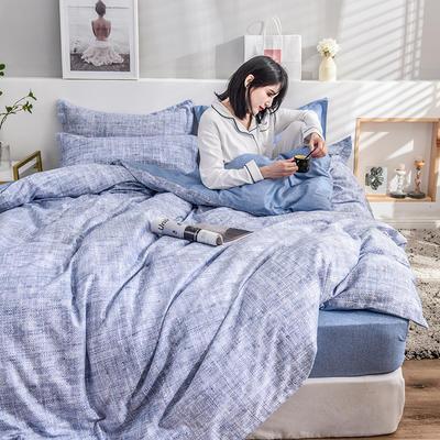2019新款13372全棉印花后现代系列 床单款三件套1.2m床 大城小爱