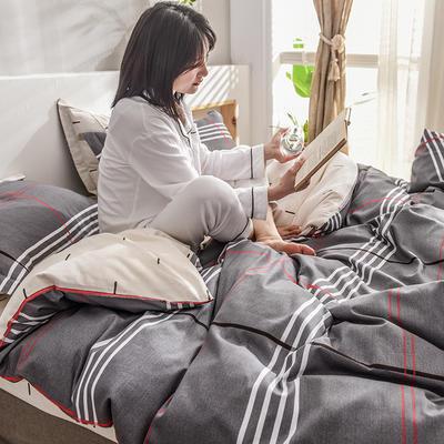 2019新款13372全棉印花后现代系列 床单款三件套1.2m床 格雅