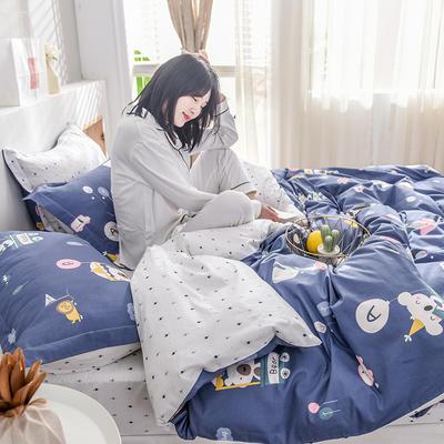 2019新款13372全棉印花后现代系列 床单款三件套1.2m床 亲亲宝贝