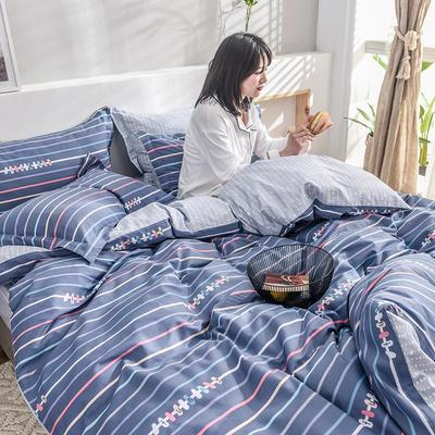 2019新款13372全棉印花后现代系列 床单款三件套1.2m床 青春气息
