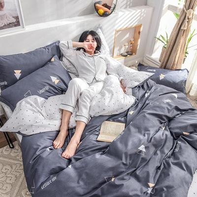 2019新款13372全棉印花后现代系列 床单款三件套1.2m床 时代风尚