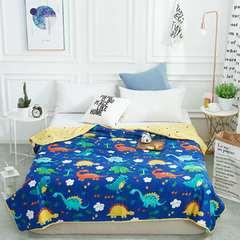 路德维家纺    纯棉13372儿童卡通空调被夏凉被 110*150cm 侏罗纪恐龙乐园恐龙世界