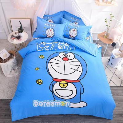 【总】大版卡通萌潮四件套 1.5m(5英尺)床 叮当猫
