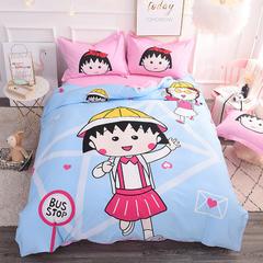【总】大版卡通萌潮四件套 1.8m(6英尺)床 开心一天