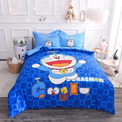 【总】大版卡通萌潮四件套 1.5m(5英尺)床 快乐多啦