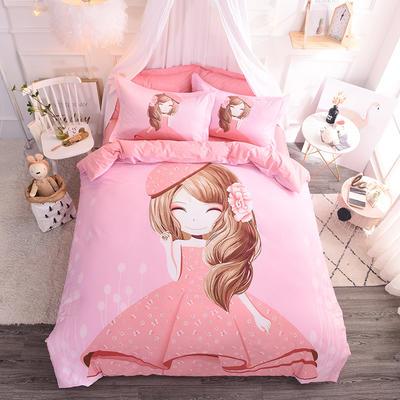 【总】大版卡通萌潮四件套 1.5m(5英尺)床 甜心宝贝