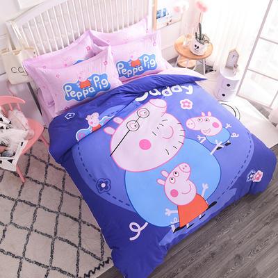 【总】大版卡通萌潮四件套 1.5m(5英尺)床 温馨佩奇