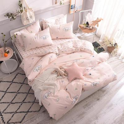 13070喷气小清新卡通四件套(二) 1.2m(4英尺)床单款三件套 茶杯兔