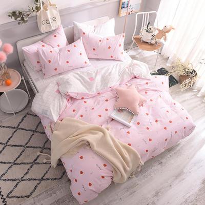13070喷气小清新卡通四件套(二) 1.2m(4英尺)床单款三件套 甜心草莓