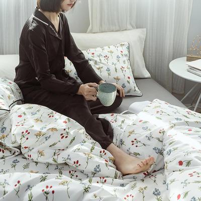2019度假系列 纯日系风格【工艺款】全棉四件套 1.5m(5英尺)床 春色【没做大号】