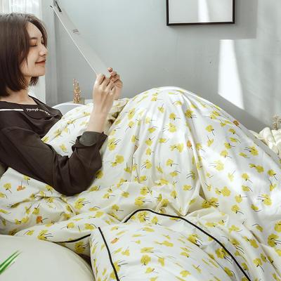 2019度假系列 纯日系风格【工艺款】全棉四件套 1.2m(4英尺)床【三件套】 向阳