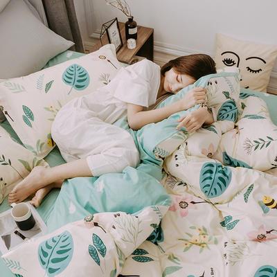 2019早春系列之小清新卡通全棉四件套 1.2m(4英尺)床【三件套】 春意