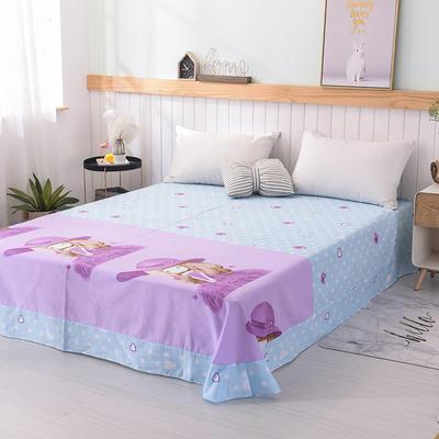 2019新品全棉大版单品床单 180cmx230cm 紫薇姑娘