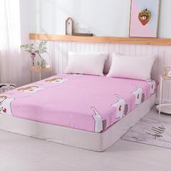 2019新款全棉大版单品床笠 150cmx200cm 爱的告白