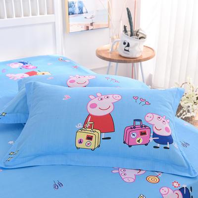 2019新款全棉大版单品枕套/个 48cmX74cm 旅行佩奇