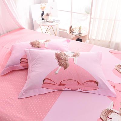 2019新款全棉大版单品枕套/个 48cmX74cm 甜心宝贝