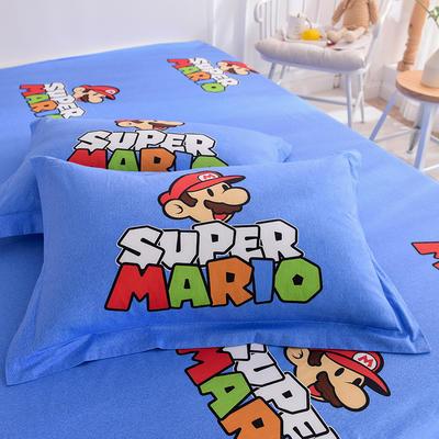 2019新款全棉大版单品枕套/个 48cmX74cm 超级玛丽