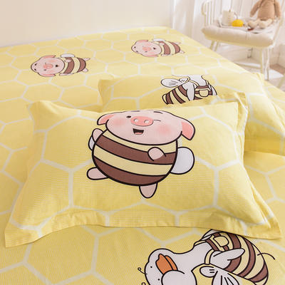 2019新款全棉大版单品枕套/个 48cmX74cm 加油猪