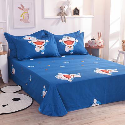 2019新款全棉卡通大版单品床单 250cmx245cm 猫的旅途