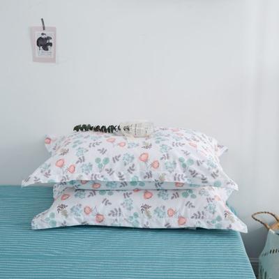 2020新款13070喷气花卉系列单品枕套 48cmX74cm/个 玖熙