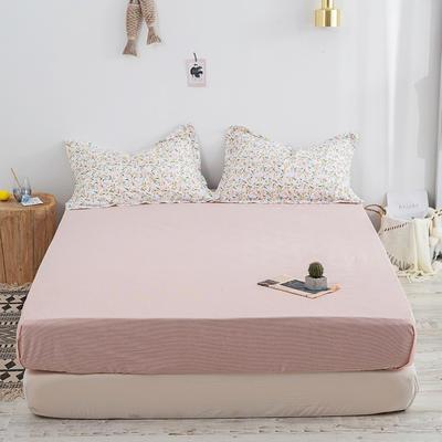 2020新款13070喷气花卉系列单品床笠 150cmx200cm 欢乐颂-米