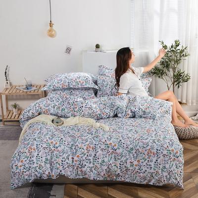 2020新款13374花卉系列四件套(影棚图) 1.2m床单款三件套 香蜜