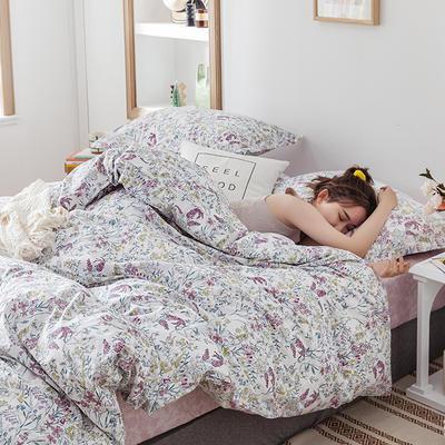 2020新款13374花卉系列四件套(影棚图) 1.2m床单款三件套 迷情