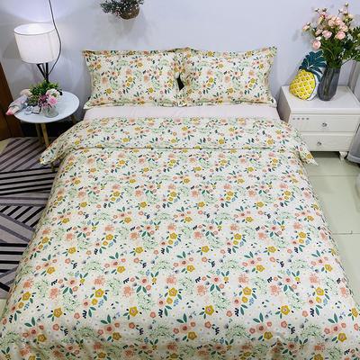 2020新款13070噴氣花卉系列(實拍圖) 1.2m床單款三件套 花繡-黃