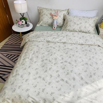 2020新款13374花卉系列四件套(实拍图) 1.2m床单款三件套 妃子笑