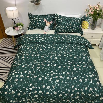2020新款13374花卉系列四件套(实拍图) 1.2m床单款三件套 清新物语-绿