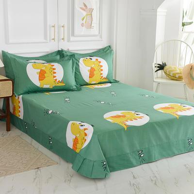2020新款大版卡通新品单独床单 180cmx230cm直角卷边 恐龙时代