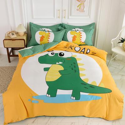 2020新款大版卡通新品单独床笠 150cmx200cm 恐龙时代
