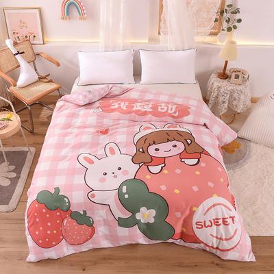 2020新款全棉定位大版卡通系列单被套 180x230cm单床单 小甜甜