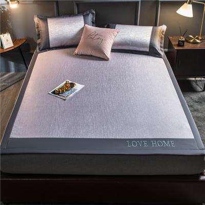 2021新款600D加厚可水洗冰丝席三件套 1.2m床两件套 酱紫色