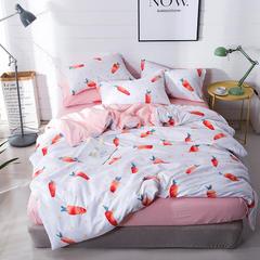 璞树家居 水洗棉印花四件套 1.8m(6英尺)床 艾可