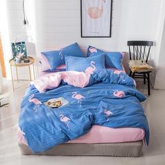璞树家居 水洗棉印花四件套 1.5m(5英尺)床 烈鸟