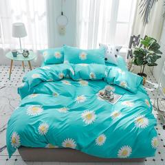璞树家居 芦荟棉印花四件套 1.5m(5英尺)床 花香 蓝