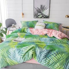 璞树家居 水洗棉印花四件套 1.2m(4英尺)床 南国风尚