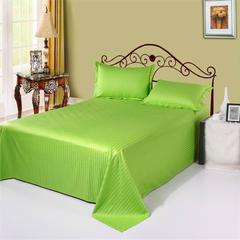 全棉缎条单品系列 床单 纯色 床上用品 120*230cm 果绿