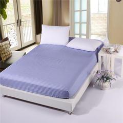 全棉缎条单品系列 床笠 床罩  纯色  床上用品 90cmx200cm+26 雪青