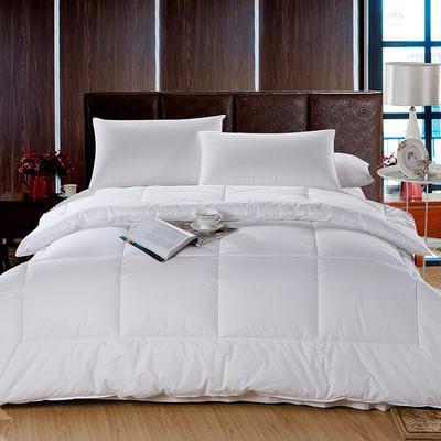 2017酒店宾馆配套系列全棉防羽布133*100被子全棉羽丝绒被 160*220cm4.7斤 被子