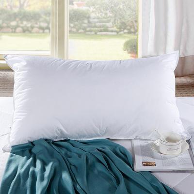2017酒店宾馆配套系列全棉羽丝绒枕 (45*75cm)枕芯